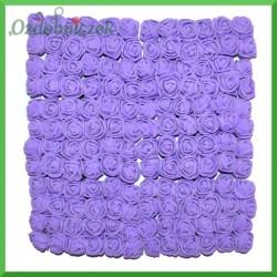 FIOLETOWE różyczki Z PIANKI Z 2cm 144 szt zestaw