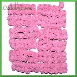 RÓŻOWE różyczki Z PIANKI Z 2cm 144 szt zestaw