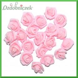 RÓŻOWE różyczki z pianki 3cm/20szt.