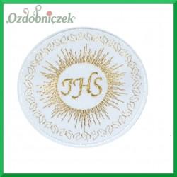 Aplikacja IHS biała ze złotym szlaczkiem 1szt.