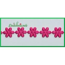 Aplikacje kwiatuszki malutkie amarantowe