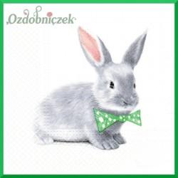 Serwetka do decoupage - króliczek w muszce