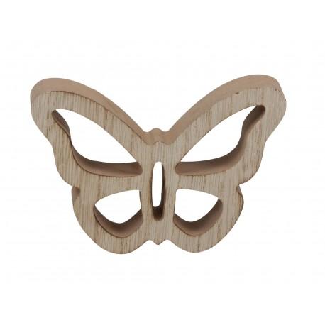 Motyl drewniany 3D - dekoracja ozdobna 1szt/9cm