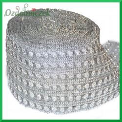 Taśma diamentowa srebrne słoneczka i łańcuszek 11,5cm/0,5mb