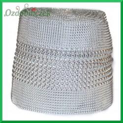 Taśma diamentowa srebrne diamenty 2 rozmiary 12cm/0,5mb