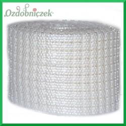 Taśma perłowa białe stokrotki 10cm/0,5mb