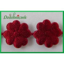 Aplikacje kwiatuszki mini bordowe