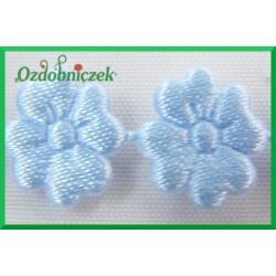 Aplikacje kwiatuszki mini błękitne