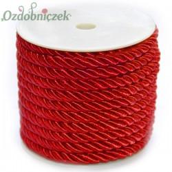 Sznurek oplatany czerwony 7 mm / 13,5 mb