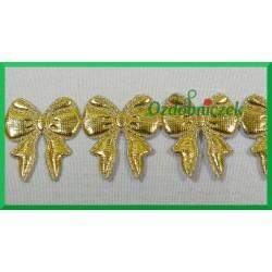 Aplikacje kokardki małe złote