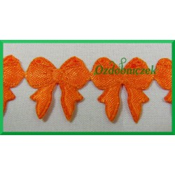 Aplikacje kokardki małe pomarańczowe