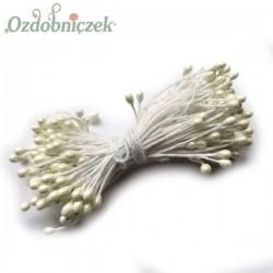 Pręciki, ryżyki - perełki na sznurku dwustronne ECRU 3mm/100szt.