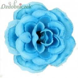 RÓŻA MINI - kwiatuszki ozdobne NIEBIESKIE 12szt.