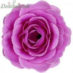 RÓŻA MINI - kwiatuszki ozdobne FIOLETOWE 12szt.