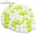 Koraliki perłowe jeżynki 10mm / 60szt 3 KOLORY - białe ecru limonka
