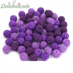 Koraliki perłowe jeżynki 10mm / 60szt 3 KOLORY - wrzos fiolet oberżyna