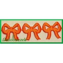 Aplikacje kokardki ażurowe pamarańczowe