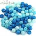 Koraliki perłowe jeżynki 10mm / 60szt 3 KOLORY - jasny niebieski błękit turkus