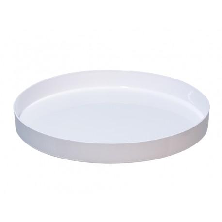 Talerz, misa, taca plastikowa biała 27cm