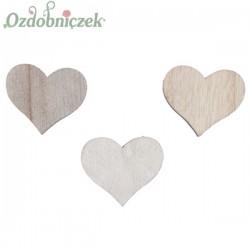 Mix SERC drewnianych 3 KOLORY 3cm/24szt.