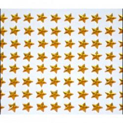 GWIAZDKI SAMOPRZYLEPNE złote przeźroczyste 0,8cm/130szt.