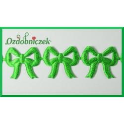Aplikacje kokardki ażurowe zielone