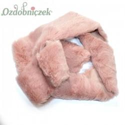 Taśma futrzana BRUDNY RÓŻ 8cm/1mb