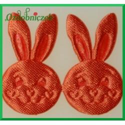 Aplikacje głowa króliczka ruda
