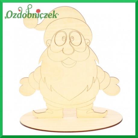 Mikołaj ze sklejki na podstawce, duży