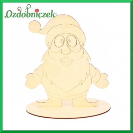 Mikołaj ze sklejki na podstawce, średni