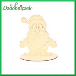 Mikołaj ze sklejki na podstawce, mały
