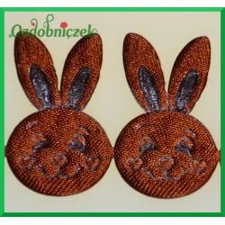 Aplikacje głowa króliczka brązowa