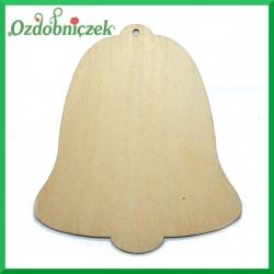 Dzwonek pełny, zawieszka ze sklejki 11. 5 cm