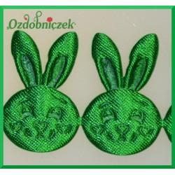 Aplikacje głowa króliczka zielona