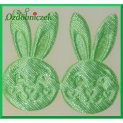 Aplikacje głowa króliczka jasno zielona