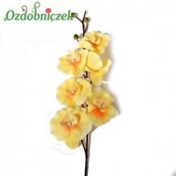 Storczyk satynowy żółty - gałązka ozdobna 80cm/1szt.