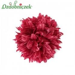 Chryzantema satynowa bordowa - duża główka kwiatowa 16cm/1szt.