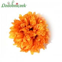Chryzantema satynowa pomarańczowa - duża główka kwiatowa 16cm/1szt.