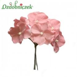 Hortensje BRUDNY RÓŻ - kwiatuszki 6szt.