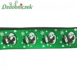 Tasiemka SATYNOWA zielona BAŁWANKI 17mm/22mb ROLKA