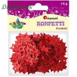 Cekiny konfetti gwiazdki czerwone 14g