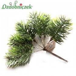 Gałązka jodły zielona na druciku