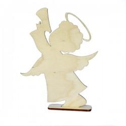 Anioł MEGA chłopiec z trąbką na podstawce
