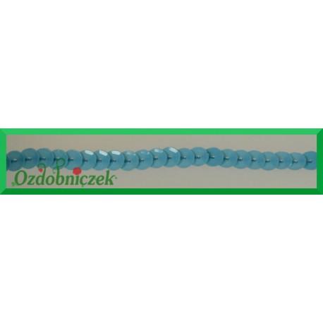 Cekiny na sznurku matowe b25 Błękitne