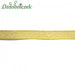 Tasiemka SZYFONOWA ŻÓŁTA łączka 10mm/20mb