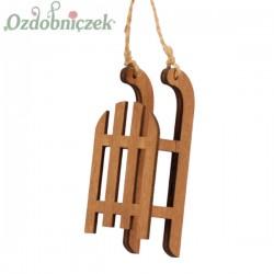 SANKI drewniane ozdobne ZESTAW 4szt.