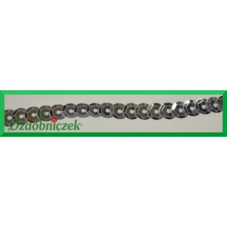 Cekiny na sznurku metaliczne c1 Srebrne