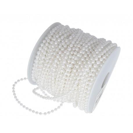 Koraliki na sznurku 4mm/1mb białe