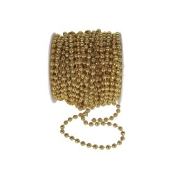 Koraliki na sznurku 6mm/1mb złote