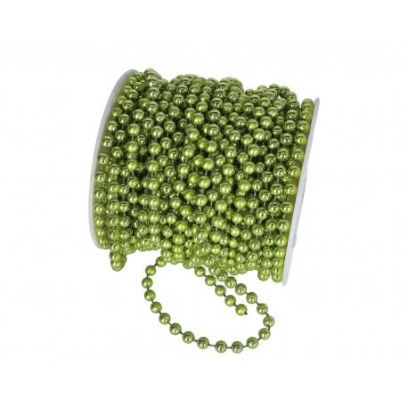 Koraliki na sznurku 4mm/1mb zielone metaliczne